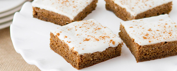 Recipe: Gingerbread Poke Cake (close up)
