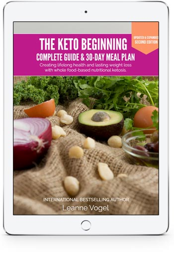 The Keto Beginning on an iPad